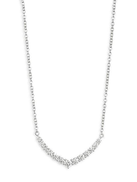 18K Gold & Diamond Curve Necklace