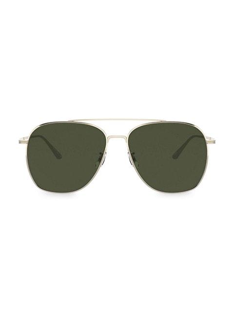 Ellerston 58MM Aviator Sunglasses