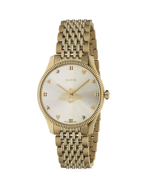 G-Timeless Slim Yellow Gold PVD Stainless Steel Bracelet Watch