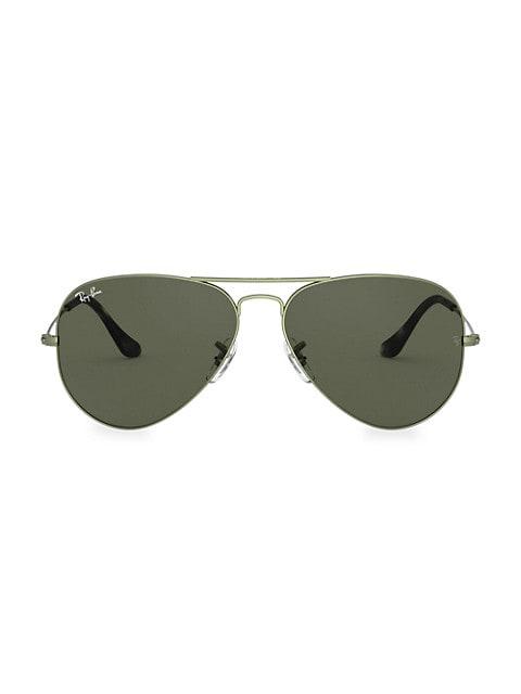 58MM Aviator Sunglasses
