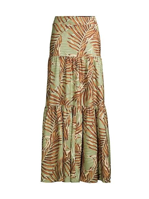 Palmeria Ruffle Longline Skirt