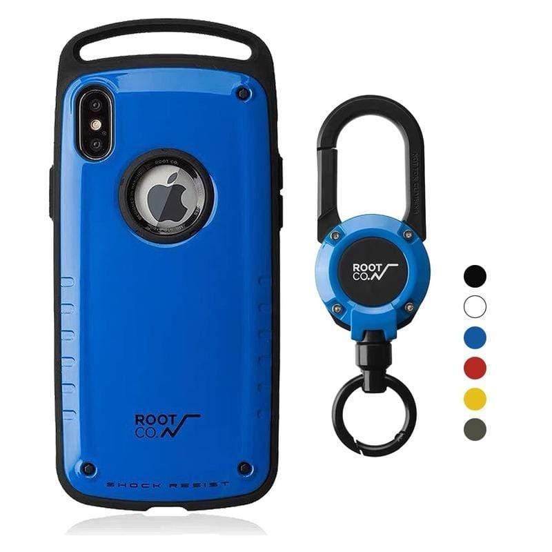 iPhone Xs Max Gravity Pro 單掛勾 + 360度旋轉登山扣 - 共六色 藍色