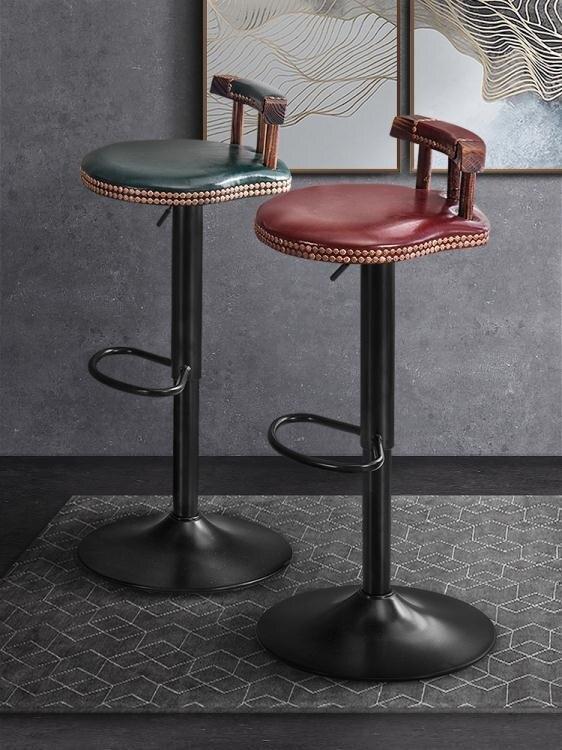 【快速出貨】吧台椅輕奢家用高腳凳 升降高凳子吧椅 酒吧桌椅靠背椅子北歐吧凳 新年春節  送禮