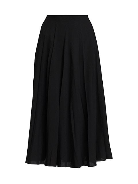 Travi Pleated Midi Skirt
