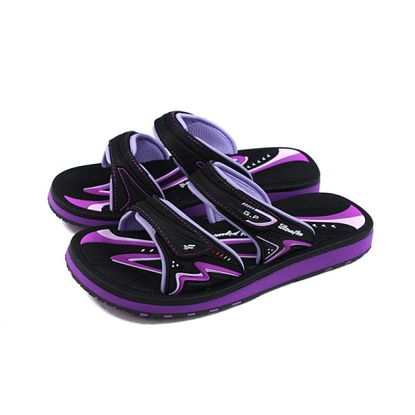 G.P 阿亮代言 拖鞋 防水 女鞋 黑/紫 G1535W-41 no480