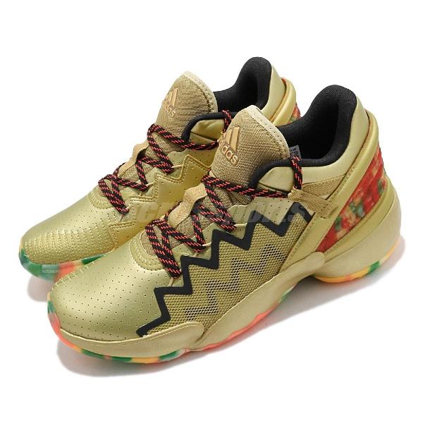 adidas 籃球鞋 D.O.N. Issue 2 GCA GUMMY 金 彩色 男鞋 軟糖色彩 運動鞋【ACS】 FW9050