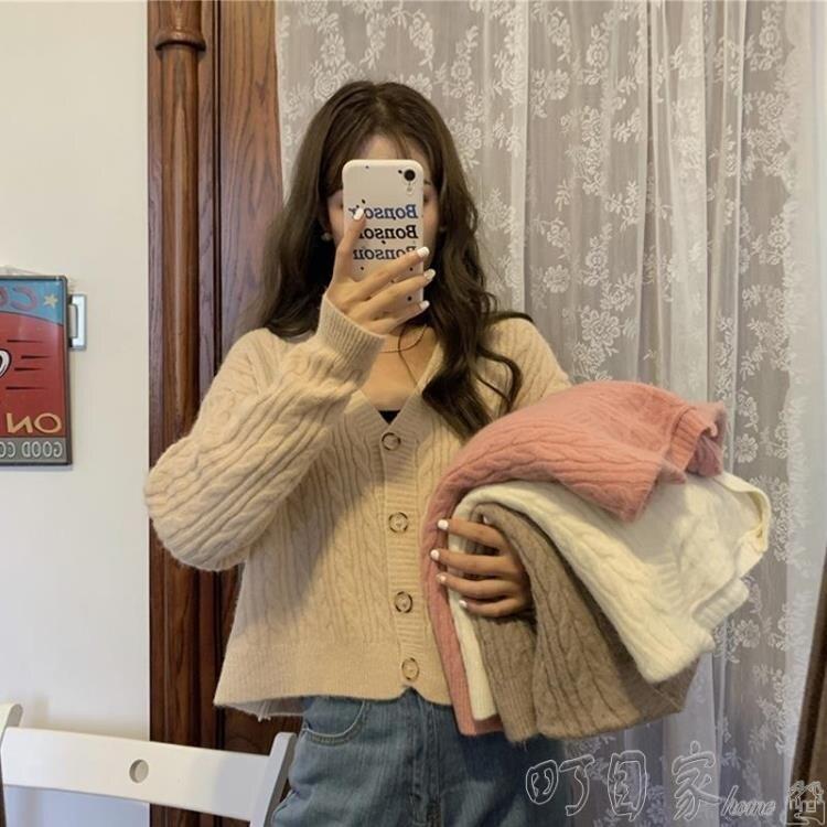 針織上衣秋季復古寬鬆毛衣外套女裝秋裝2020年韓版百搭薄款針織開衫上衣女SUPER 全館特惠9折