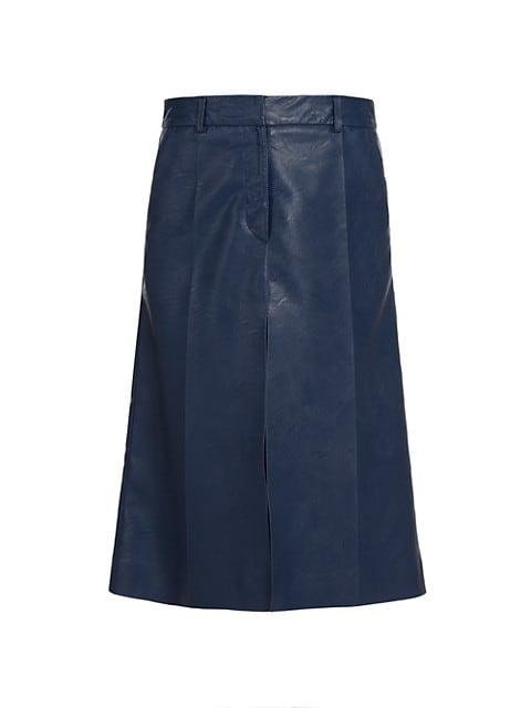 Alisha Faux-Leather Skirt