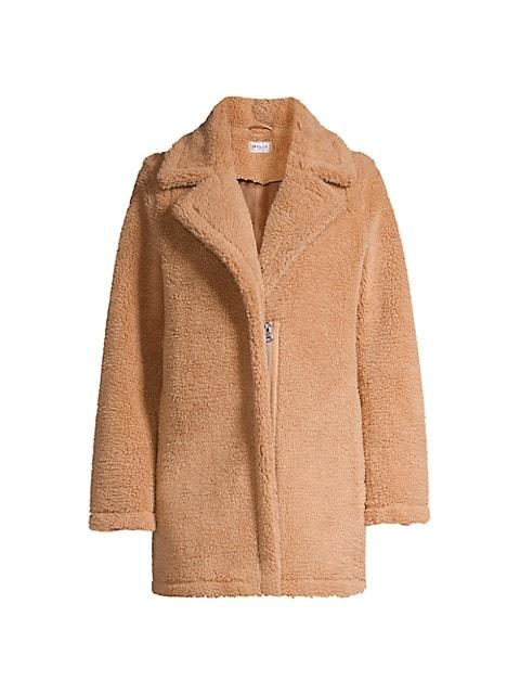 Eldridge Faux Shearling Teddy Coat