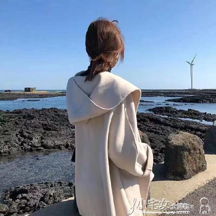 斗篷外套 2020年秋裝新款女韓版大衣矮小個子西裝斗篷毛呢外套女中長款西服  尚品衣櫥新品
