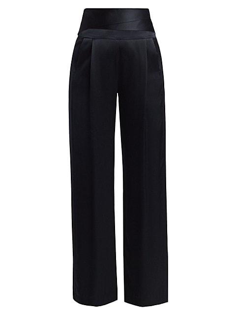 Cumberband Silk Trousers