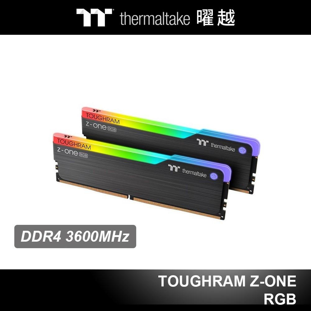 曜越 TOUGHRAM 鋼影 Z-ONE RGB 超頻 記憶體 DDR4 3600MHz 8GB/16GB 黑色