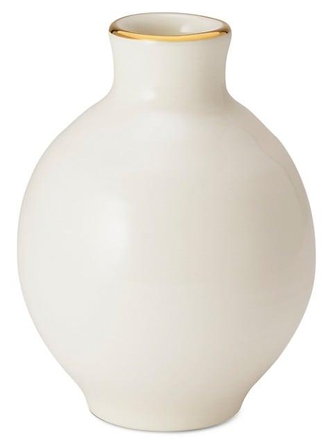 Sancia 18K Yellow Goldplated & Ceramic Grecian Vase