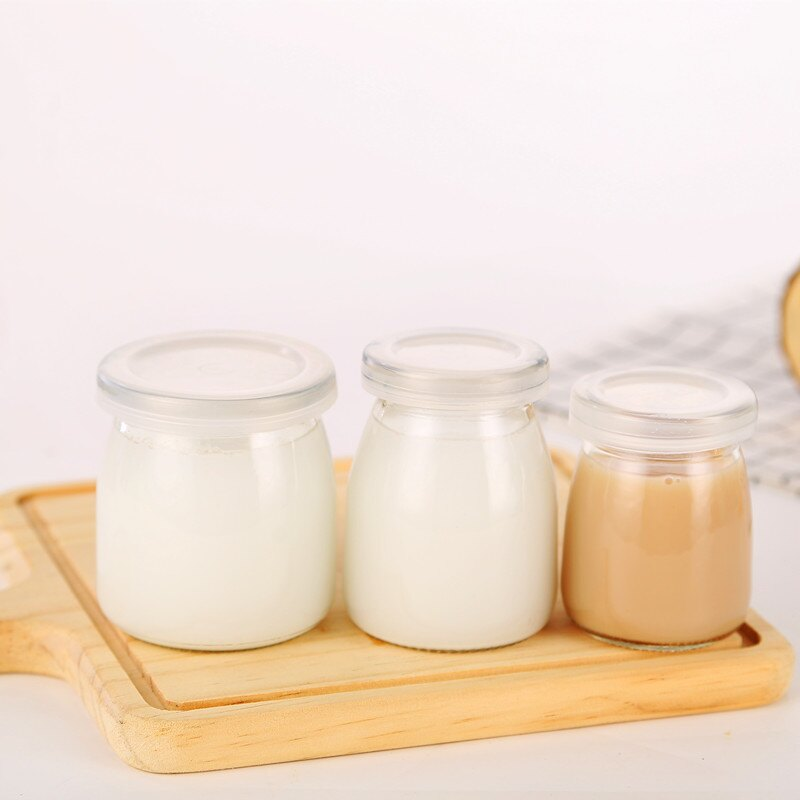 布丁瓶玻璃布丁杯帶蓋酸奶瓶烘培模具自制酸奶分裝杯烤箱用耐高溫