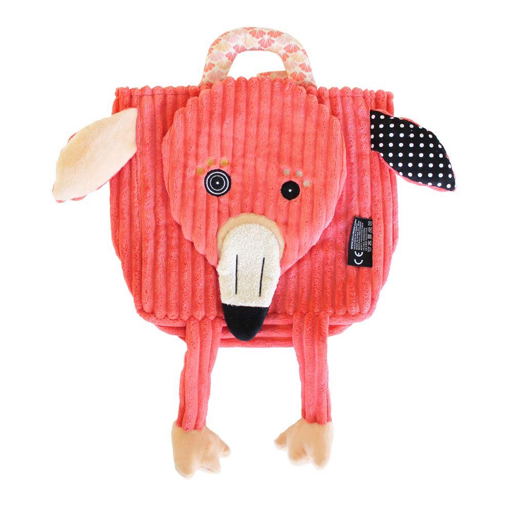 Les Deglingos 立體兒童背包-紅鶴