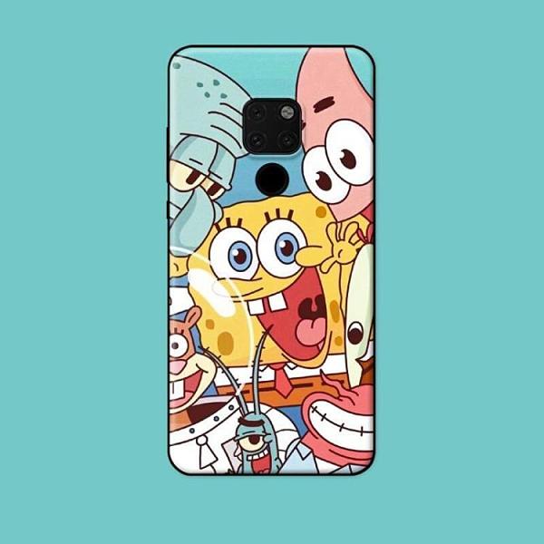 適用mate30pro910pro20x5G手機殼海綿寶寶卡通可愛軟全包