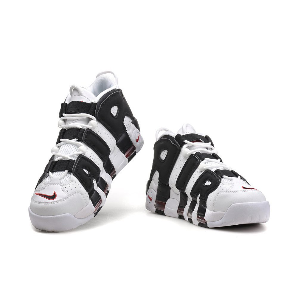 NIKE AIR MORE UPTEMPO NMD vans 黑白 酒紅色 籃球鞋 414962-105