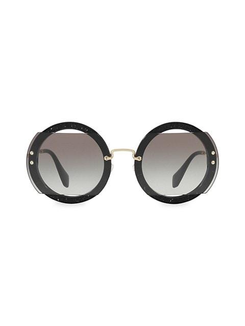 63MM Round Sunglasses
