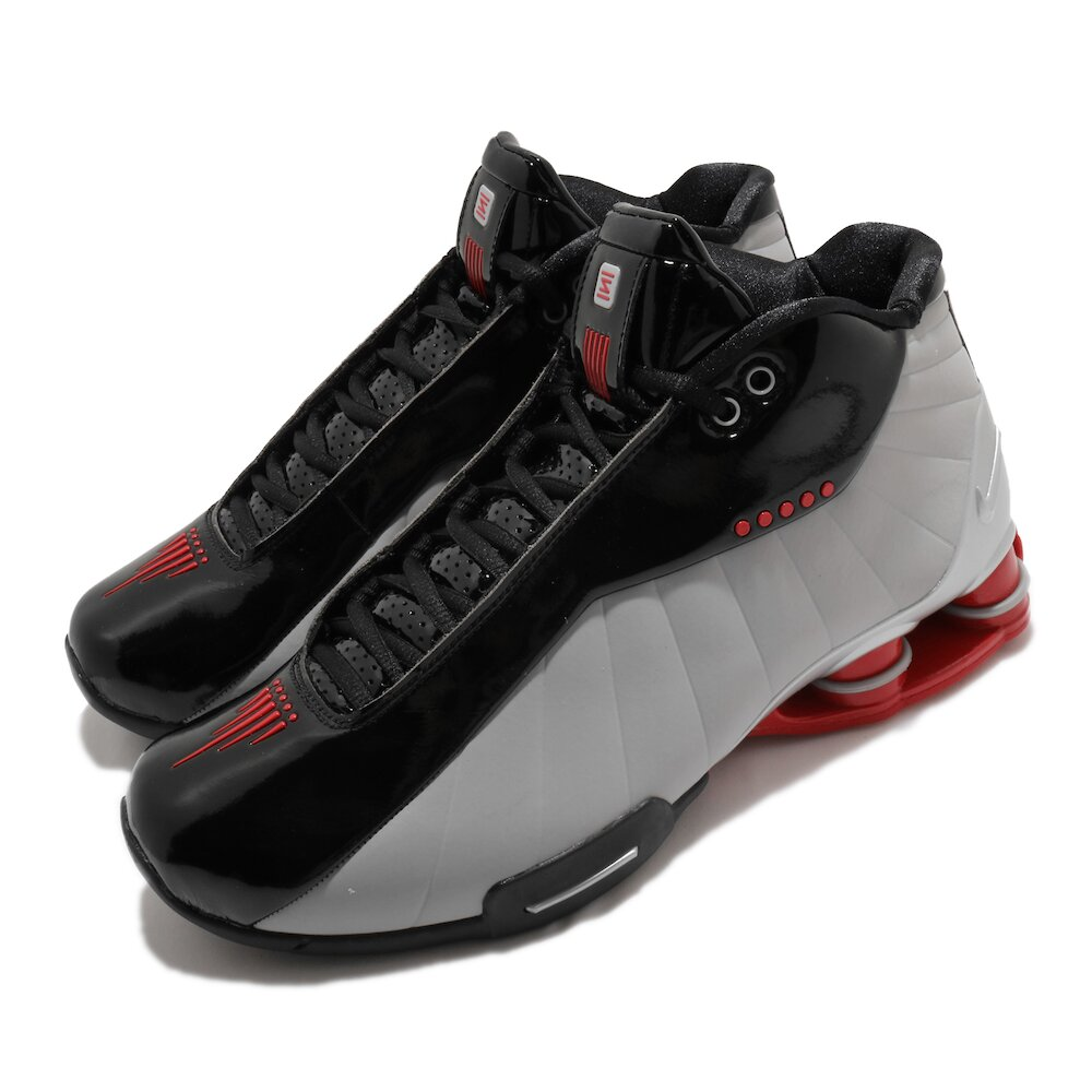 NIKE 籃球鞋 Shox BB4 復刻 運動 男鞋 經典款 彈簧鞋 明星款 球鞋 穿搭 黑 灰 [AT7843-003]
