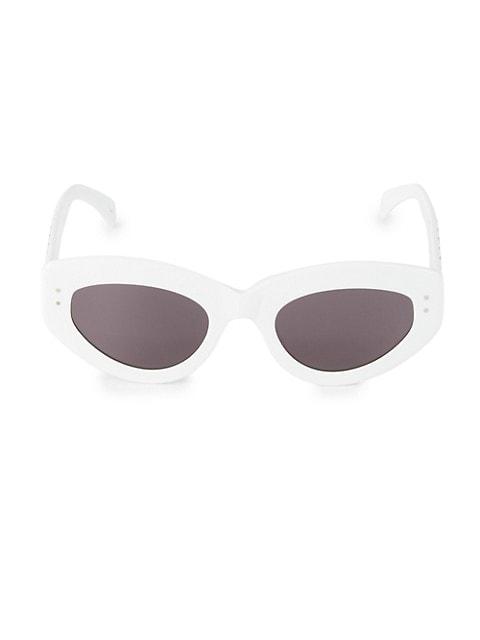51MM Cat Eye Grommet Sunglasses