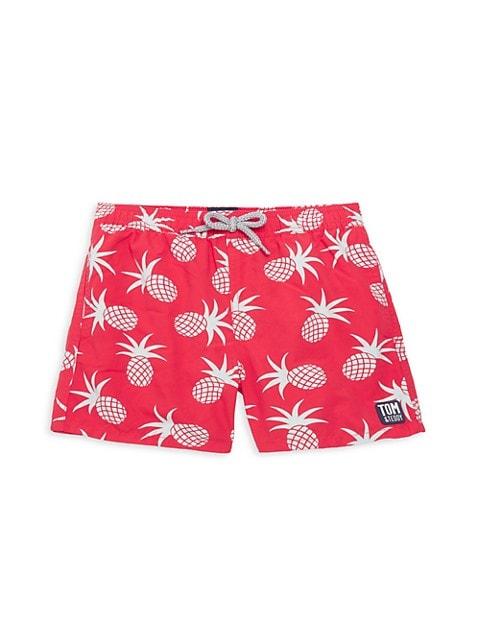 Little Boy's & Boy's Pineapple Print Board Shorts