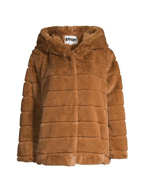 Goldie Hooded Faux-Fur Coat