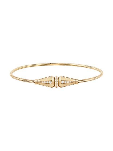 Jack de Boucheron 18K Yellow Gold & Diamond Bracelet