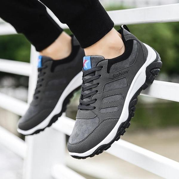 春季新款跑步運動鞋男士休閒鞋內增高板鞋韓版潮流戶外登山鞋子男