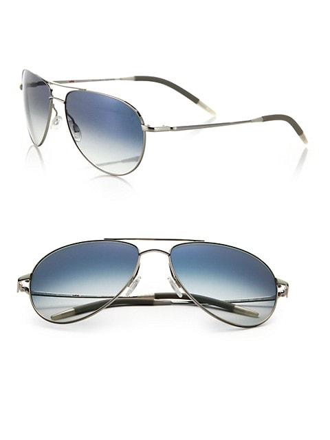 Benedict 59MM Chrome Aviator Sunglasses