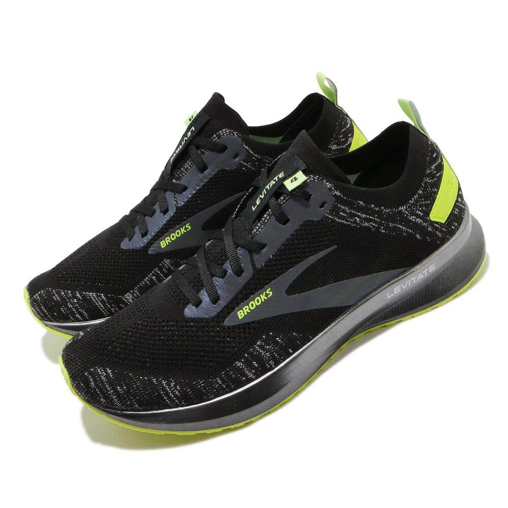BROOKS 慢跑鞋 Levitate 4 Run 運動 男鞋 路跑 緩震 DNA科技 透氣 健身 球鞋 黑 黃 [1103451D013]