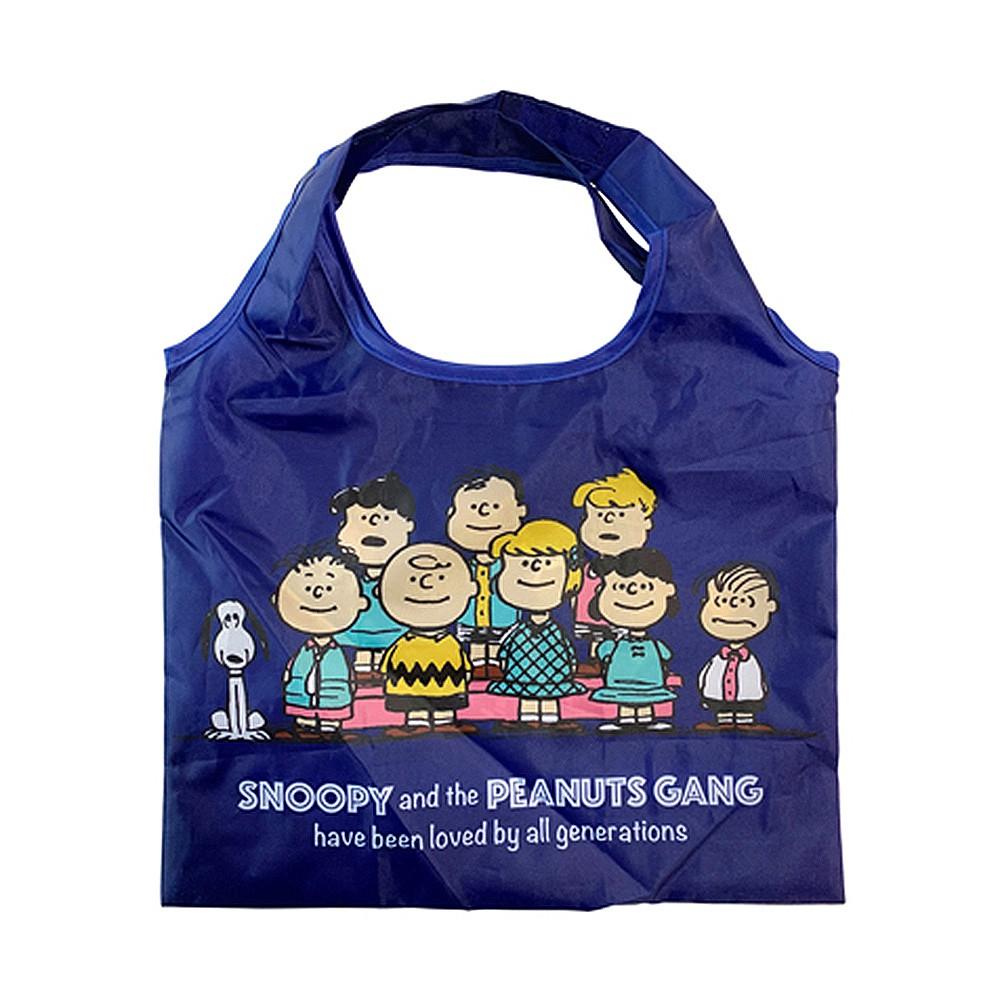 Small Planet SNOOPY70周年系列 可摺疊收納雙面圖案迷你環保購物袋 夥伴