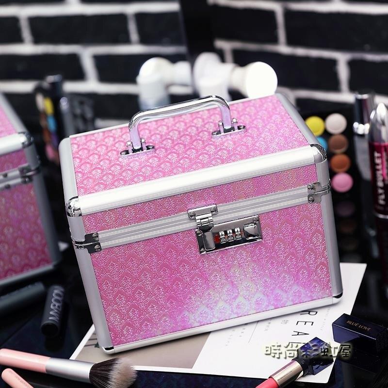 韓國專業鋁合金化妝包手提多層大容量化妝箱美甲工具護膚品收納包