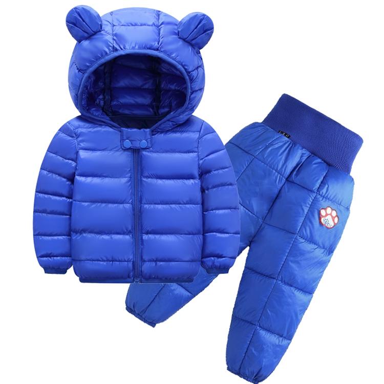 反季兒童套裝嬰幼兒羽絨棉服加厚外套女童秋冬中小童兩件套外穿冬