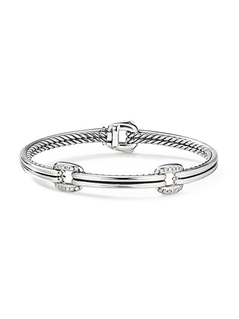 Thoroughbred® Double-Link Bracelet With Diamonds