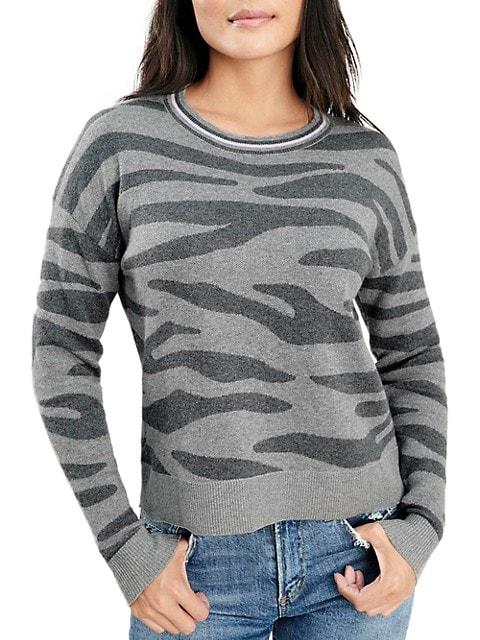 Zebra Print Long-Sleeve Sweater