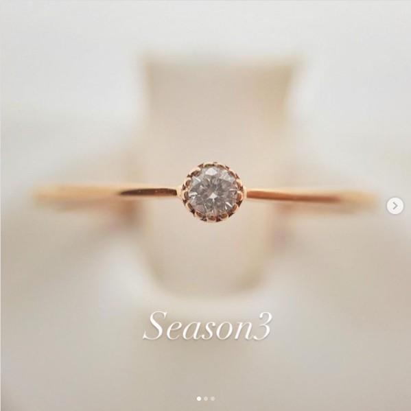 玫瑰金單鑽鑽石戒指