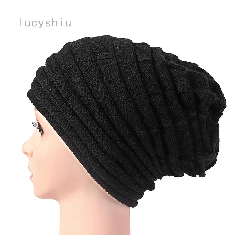 歐美熱風百褶袖口頭飾女士冬季保暖滑雪羊毛帽歐美戶外針織帽