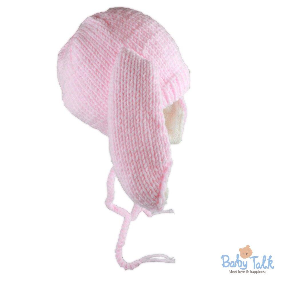 Baby Talk 造型手工編織帽-小兔兔 (S)
