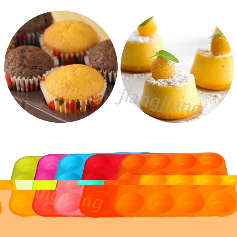 2J` 有機矽不粘12杯鬆餅泛蛋糕盤蛋糕烘焙模具