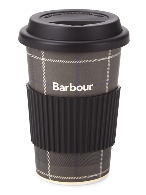Logo Plaid Travel Mug