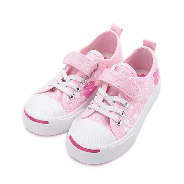 MIOSHOES 櫻花休閒帆布鞋 粉 200802 中童鞋