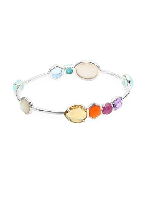 Rock Candy Sterling Silver & Multi-Stone Gelato Kiss Bangle Bracelet
