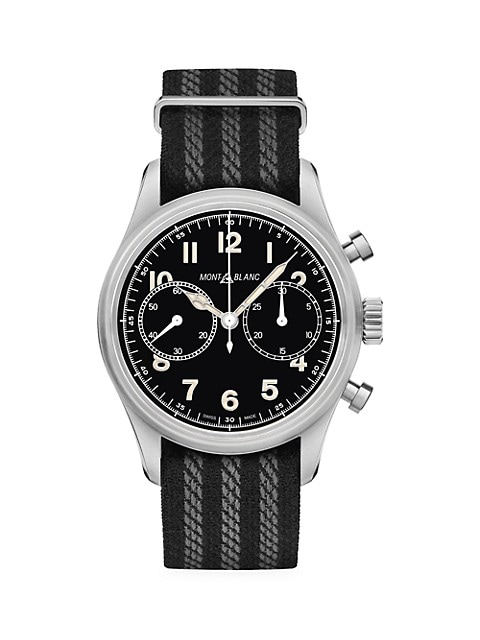 1858 Stainless Steel & Nato Strap Automatic Chronograph Watch