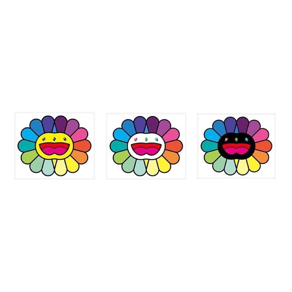 村上隆 Takashi Murakami Multicolor Double Face 雙臉彩花 版畫 (三款一套)