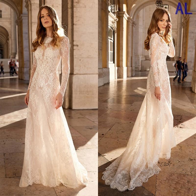 精品經典款式歐美外貿新款女裝連衣裙性感蕾絲透視長袖禮服