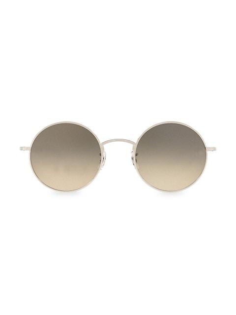 After Midnight 49MM Round Sunglasses