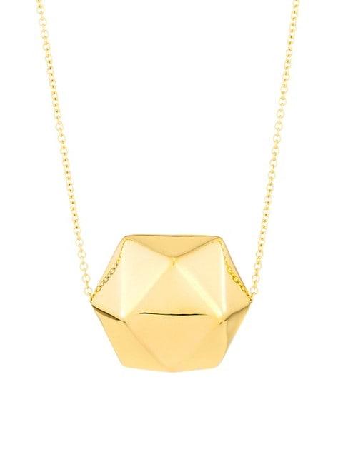 Millennia 18K Gold Crystal Ball Pendant Necklace