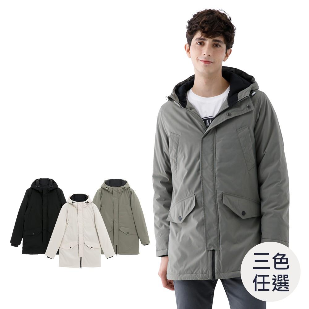 GIORDANO 男裝多口袋鋪棉連帽外套(三色任選) 01070617