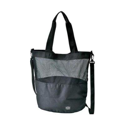 日本[Snow Peak] Active Mesh 兩用肩背包(黑色) / 側背袋 / 購物包