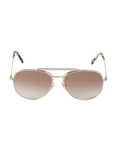 57MM Embellished Aviator Sunglasses